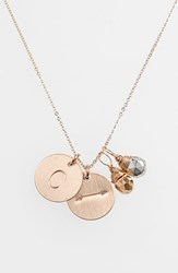 Women's Nashelle Pyrite Initial And Arrow 14K Gold Fill Disc Necklace Gold Pyrite Silver Pyrite C