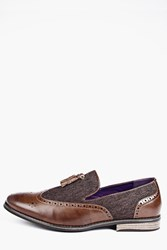 Boohoo Panel Tassle Loafers Tan