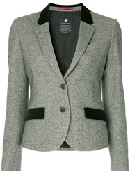 Loveless Contrast Details Blazer Grey
