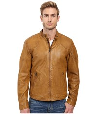 Lucky Brand Thruxton Leather Jacket Honey Colour Men's Coat Brown