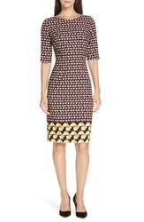 Boss Dareika Anthracite Sheath Dress Matched Graphics