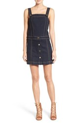 7 For All Mankindr Women's Mankind Denim Pinafore Dress Clean Rinse