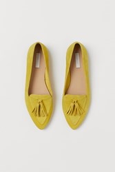 Handm H M Suede Loafers Yellow
