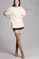 Forever 21 Liliana Over The Knee Boots Taupe