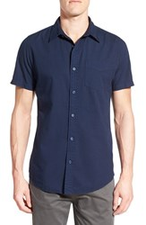 Men's Original Paperbacks 'Torino' Short Sleeve Woven Shirt Navy