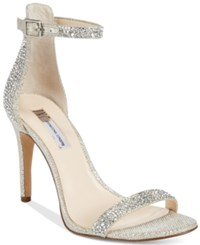 Inc International Concepts Women's Roriee Rhinestone Ankle Strap Dress Sandals Only At Macy's Women's Shoes Champagne