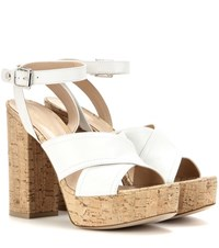 Gianvito Rossi Mytheresa.Com Exclusive Suzie Leather Platform Sandals White