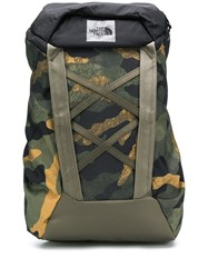 The North Face Camouflage Branded Backpack Green