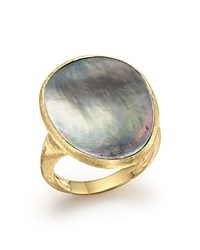 Marco Bicego 18K Yellow Gold Lunaria Ring With Black Mother Of Pearl Trunk Show Exclusive White Gold