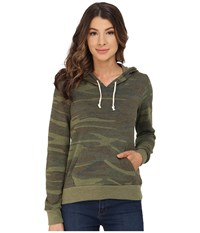 Alternative Apparel Athletics Printed Hoodie Camo Women's Sweatshirt Multi