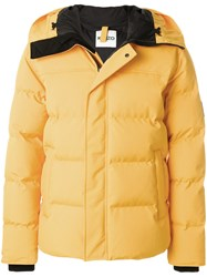 Kenzo Quilted Puffa Jacket Feather Down Nylon Polyester Yellow Orange