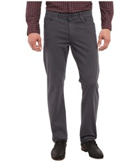 Ag Adriano Goldschmied The Graduate Tailored Straight Sueded Stretch Sateen Sulfur Cavern Casual Pants Gray