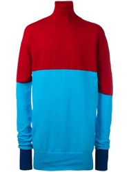 J.W.Anderson Roll Neck Bicolour Jumper Red