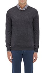 Barneys New York Men's Wool Crewneck Sweater Dark Grey