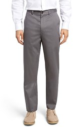 Nordstrom Men's Big And Tall Men's Shop 'Classic' Smartcare Tm Relaxed Fit Flat Front Cotton Pants Navy