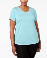 Ideology Plus Size Essential V Neck Performance T Shirt Created For Macy's Crystal Mist