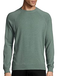Brunello Cucinelli Long Sleeve Solid Cashmere Sweater Green