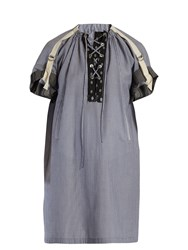 J.W.Anderson Lace Up Striped Tunic Blue Stripe