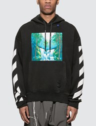 Off White Diagonals Waterfall Hoodie Black