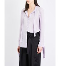 Daniel Gregory Natale Loose Fit Cotton Gauze Shirt Lavender