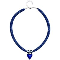 Martick Spacedust Murano Heart Necklace Dark Blue