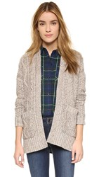 Madewell Marled Patchwork Cable Cardigan Marled Flax