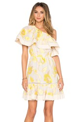 Rebecca Taylor Ella Fil Coupe One Shoulder Dress Yellow