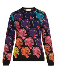 Gucci Panther Face Wool Sweater Multi