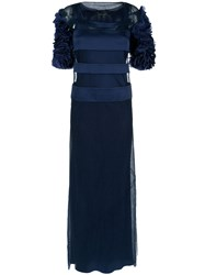 Gloria Coelho Panelled Gown Polyamide Blue