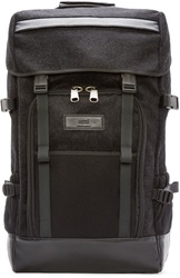 Ami Alexandre Mattiussi Black Felted Wool Backpack