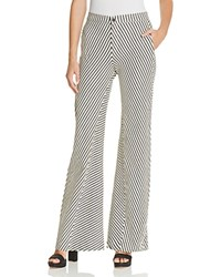 J Brand Larrabee Trouser Flare Pants Navy Cream Stripe