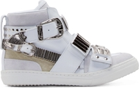 Toga Pulla White Accent Hardware High Top Sneakers