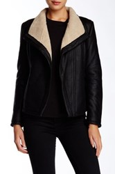 Truth Of Touch Camielle Faux Fur Lined Leather Jacket Black