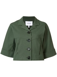 Derek Lam 10 Crosby Cropped Button Up Jacket Green