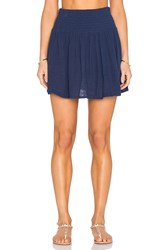 Michael Stars Smocked Waist Skirt Blue