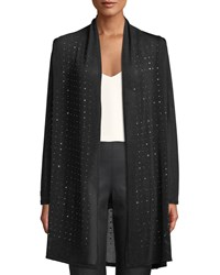 Berek Sparkle Time Long Cardigan Plus Size Black