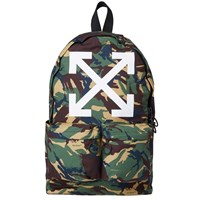 Off White Arrows Backpack Green