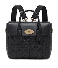 Mulberry Cara Quilted Nappa Backpack Black