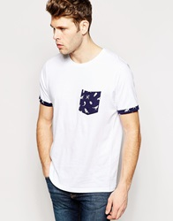 Brave Soul Bird And Feather Pocket T Shirt White