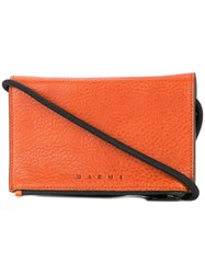 Marni Contrast Zipped Wallet Brown