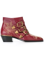 Chloe 'Susanna' Ankle Boots Red