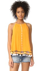 Piper Embroidered Halter Top Sunshine