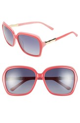 Women's Lilly Pulitzer 'Kelsie' 59Mm Polarized Sunglasses Hibiscus Pink Laminate