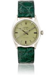 Vintage Watch Women's Vintage Oyster Perpetual Air King Watch Green