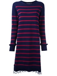 Muveil Striped Dress Blue