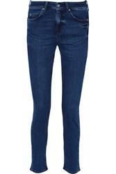 Mih Jeans The Breathless Mid Rise Skinny Jeans Blue