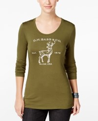 G.H. Bass And Co. Deer Graphic Top Dark Pine Combo