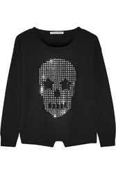 Autumn Cashmere Skull Embellished Cashmere Sweater Black