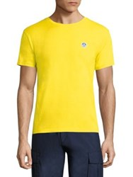 North Sails Slim Fit Icon Patch Cotton Tee Yellow