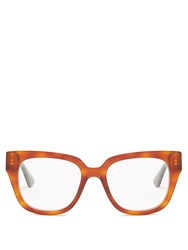 Gucci Square Frame Acetate Glasses Tortoiseshell
